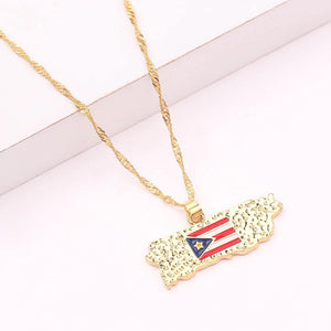 "16"" Gold Necklace Map"