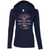 Ladies Hoodie - American With Puerto Rican Roots - Ladies Hoodie