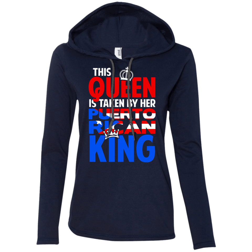 Ladies Hoodie - Taken By A Puerto Rican King