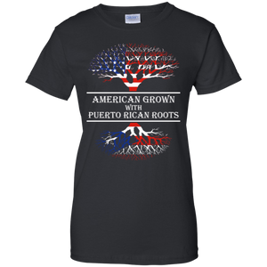Ladies Tee - American With Puerto Rican Roots - Ladies