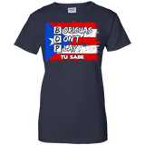 Ladies Tee - Boricuas Don't Play - Ladies Tee