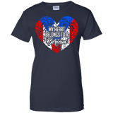 Ladies Tee - My Heart Belongs To A Boricua - Ladies Tee