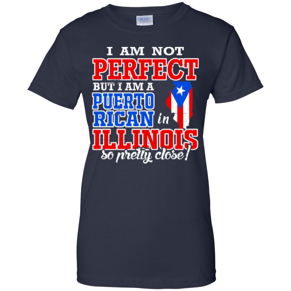 Ladies Tee - Puerto Rican In Illinois - Ladies Tee