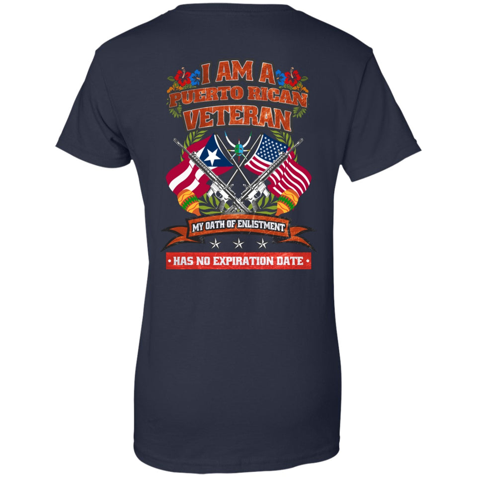 Ladies Tee - Puerto Rican Veteran - Ladies Tee
