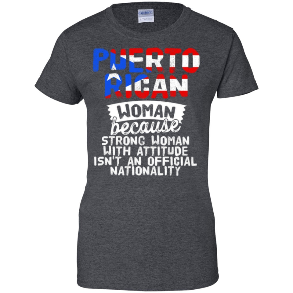 Ladies Tee - Puerto Rican Woman Because...