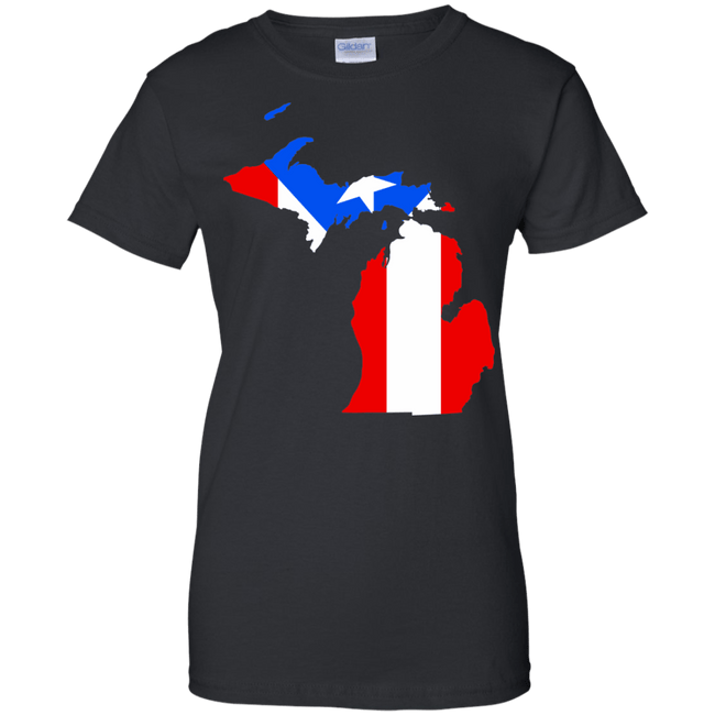 Ladies Tee - Rican In Michigan - Ladies Tee
