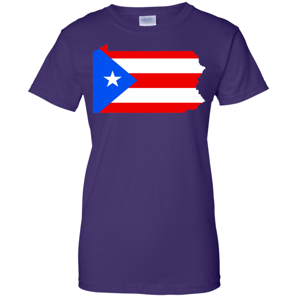 Ladies Tee - Rican In Pennsylvania - Ladies Tee