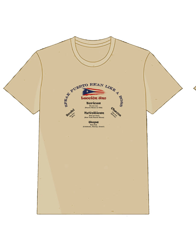Tan T-Shirt Learn to Speak PR