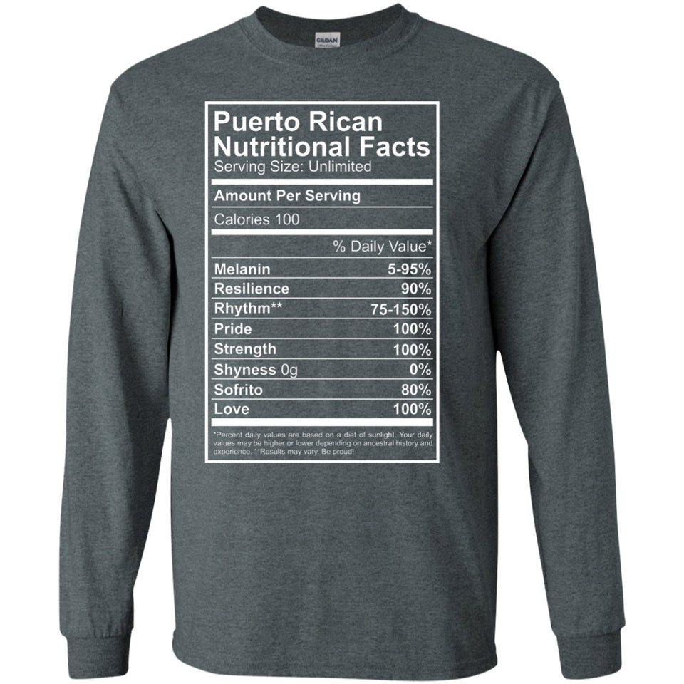 Long Sleeve - Nutritional Facts - Long Sleeve