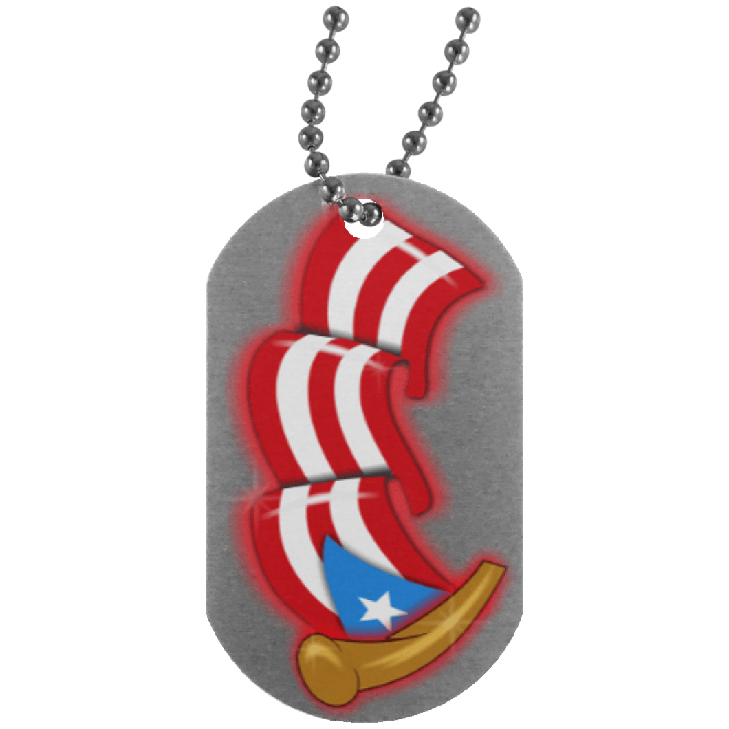 Necklace - Airbrush Flag Dog Tag