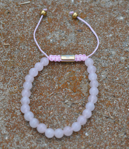 Rose Quarts Natural Stone Bracelet
