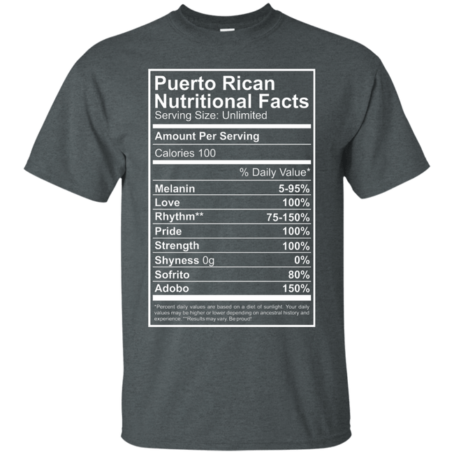 Shirt - Nutritional Facts