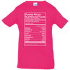 Shirt - Nutritional Facts - Infant Jersey Tee