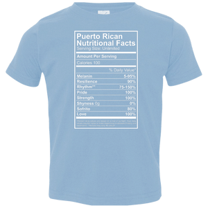 Shirt - Nutritional Facts - Toddler Jersey Tee