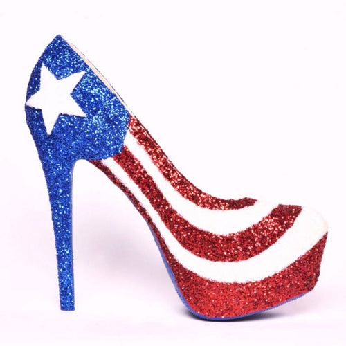 Shoe - Flag High Heels