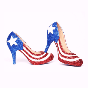 Shoe - Flag Low Heels