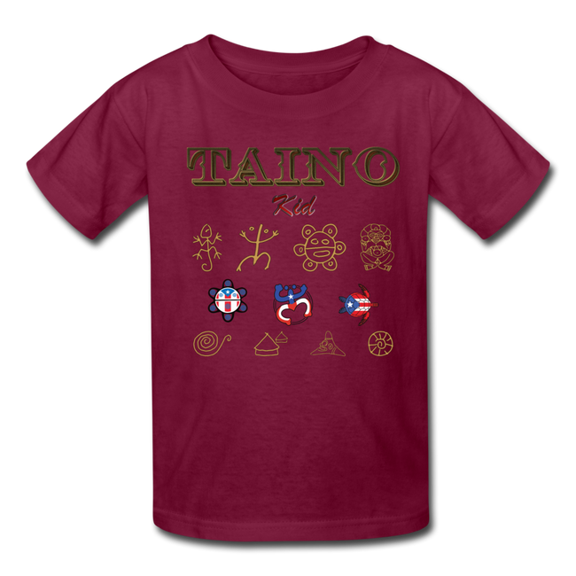 Taino Kid T-Shirt - burgundy