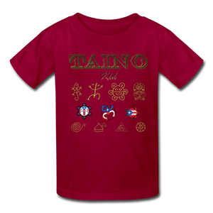 Taino Kid T-Shirt - dark red