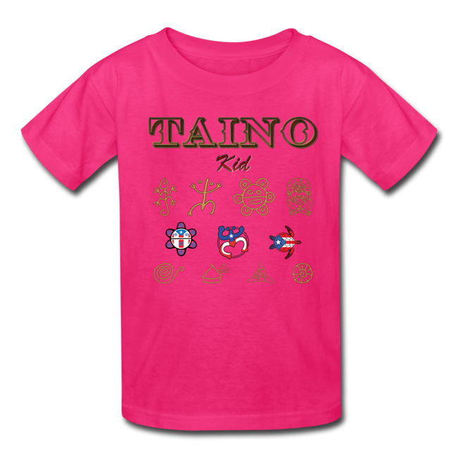 Taino Kid T-Shirt - fuchsia