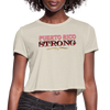 PR STrong Women's Cropped T-Shirt - dust