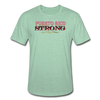 PR STRONG Unisex Heather Prism T-Shirt - heather prism mint