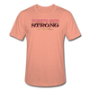 PR STRONG Unisex Heather Prism T-Shirt - heather prism sunset