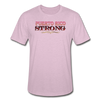 PR STRONG Unisex Heather Prism T-Shirt - heather prism lilac