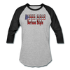 ALPHA MALE BORICUA STYLE Baseball T-Shirt - heather gray/black
