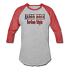 ALPHA MALE BORICUA STYLE Baseball T-Shirt - heather gray/red