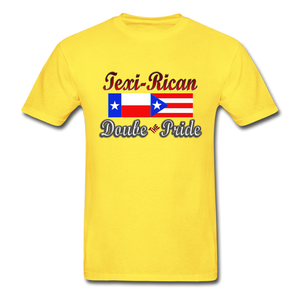 Texi-Rican 2x Pride Hanes Adult Tagless T-Shirt - yellow