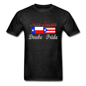 Texi-Rican 2x Pride Hanes Adult Tagless T-Shirt - charcoal gray