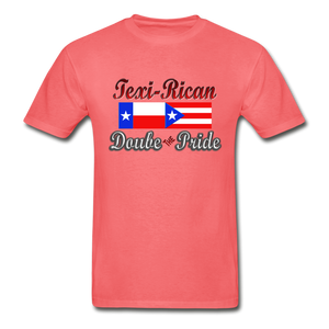 Texi-Rican 2x Pride Hanes Adult Tagless T-Shirt - coral