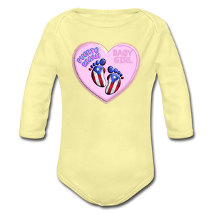 Baby Girl Organic Bodysuit - washed yellow