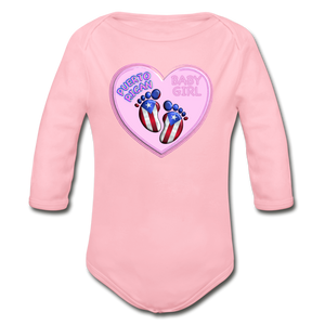 Baby Girl Organic Bodysuit - light pink