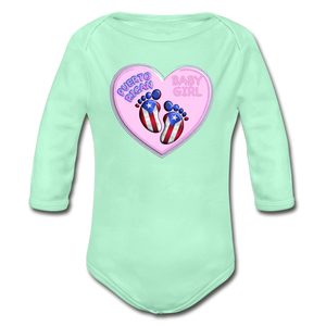Baby Girl Organic Bodysuit - light mint