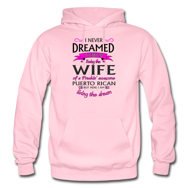 WIFE of Awesome PR HD Pullover Hoodie - light pink