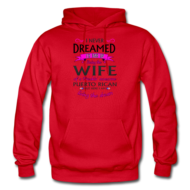 WIFE of Awesome PR HD Pullover Hoodie - red