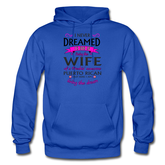 WIFE of Awesome PR HD Pullover Hoodie - royal blue