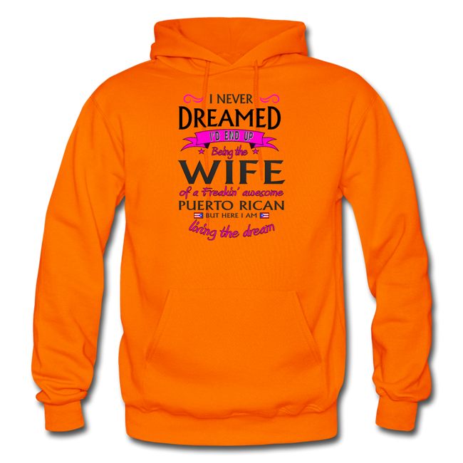 WIFE of Awesome PR HD Pullover Hoodie - orange