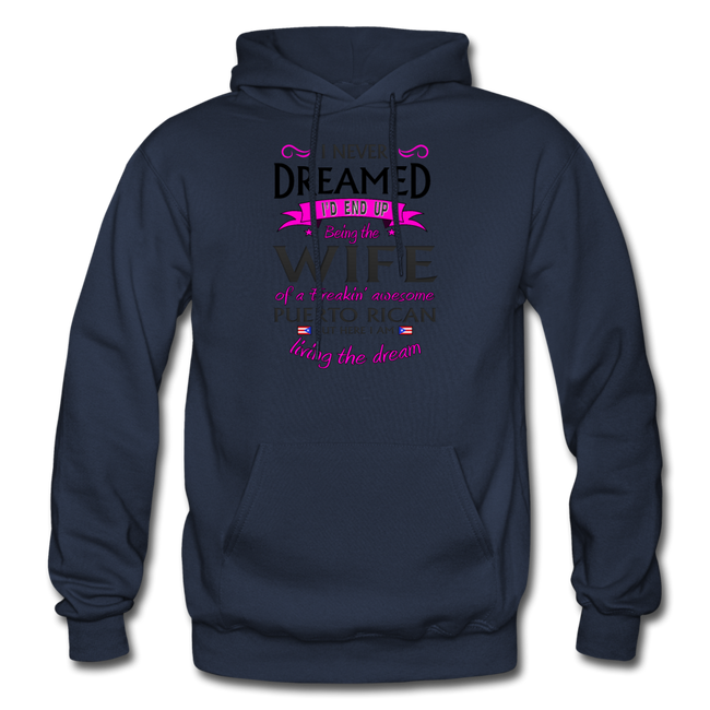 WIFE of Awesome PR HD Pullover Hoodie - navy