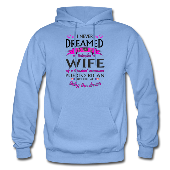 WIFE of Awesome PR HD Pullover Hoodie - carolina blue