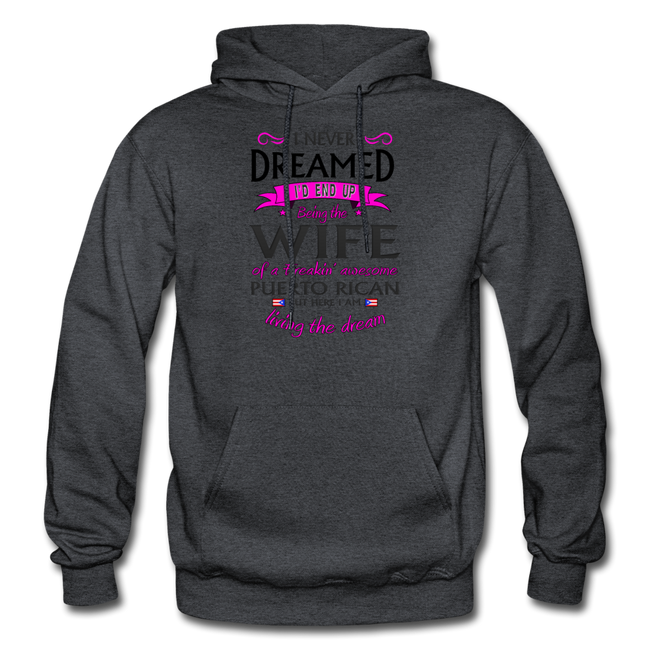 WIFE of Awesome PR HD Pullover Hoodie - charcoal gray