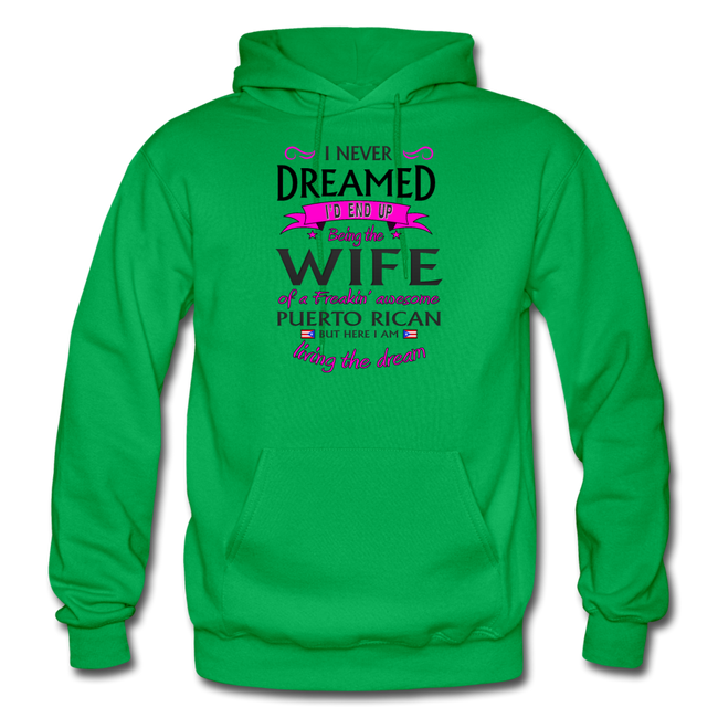 WIFE of Awesome PR HD Pullover Hoodie - kelly green
