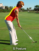 golf s shape golfers spine alignment