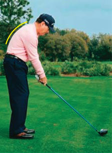 posture golf hunched golfers spine alignment