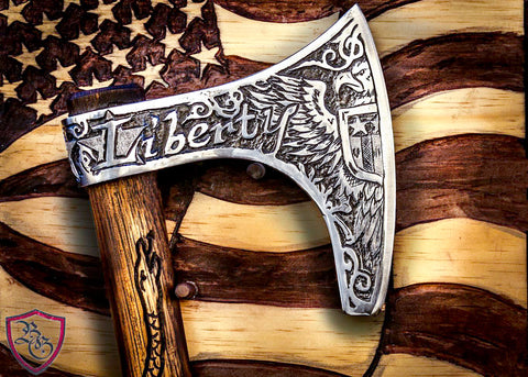 Artistically Engraved Axes