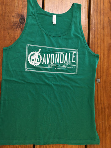 Green Avondale Logo Tank Top