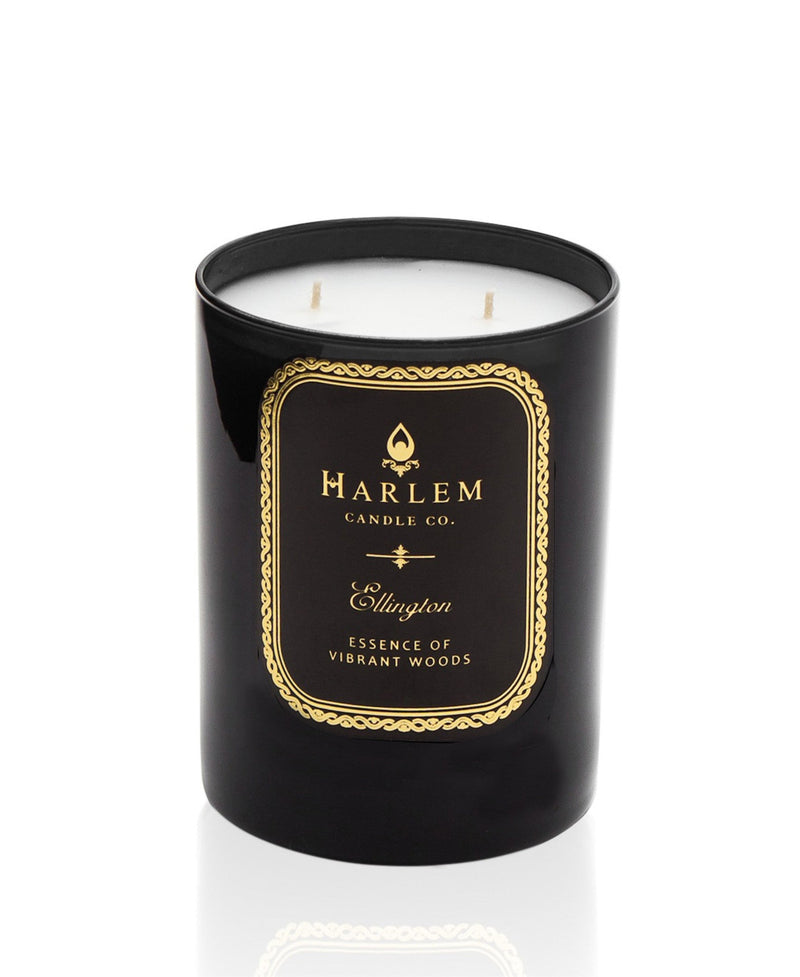 This is a photo of the Ellington Luxury Candle. This candle is scented with bergamot, cinnamon, clary sage, lily of the valley, rose, lavender, patchouli, amber and musk.