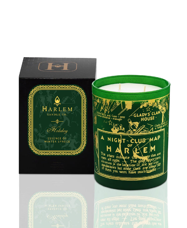 This is a picture of our green pine, hyacinth, pine needle scented candle.