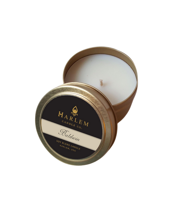 """Baldwin"" luxury travel candle 4 oz"